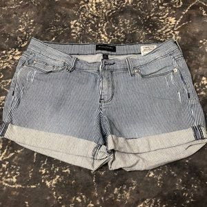 Banana Republic Striped Denim Shorts